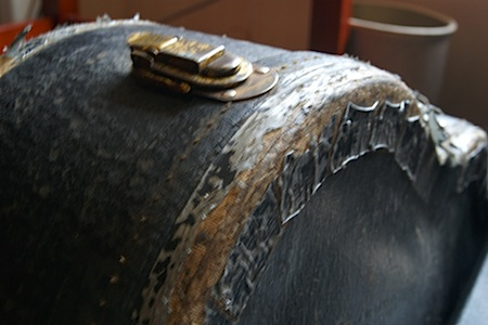 Weathered guitar case