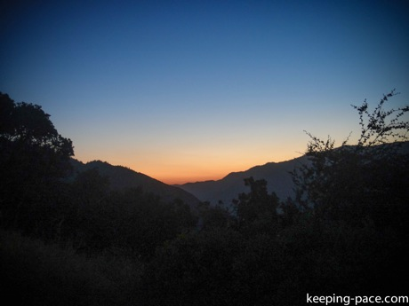 Final sunset as we leave Kings Canyon