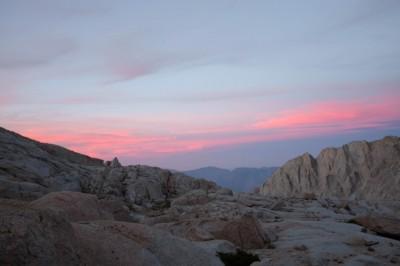 sunrise at trail camp